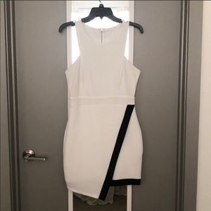 Dresses & Skirts - Just Me White and Black Dress size M